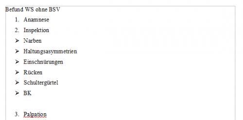 Screenshot for Befund WS ohne BSV