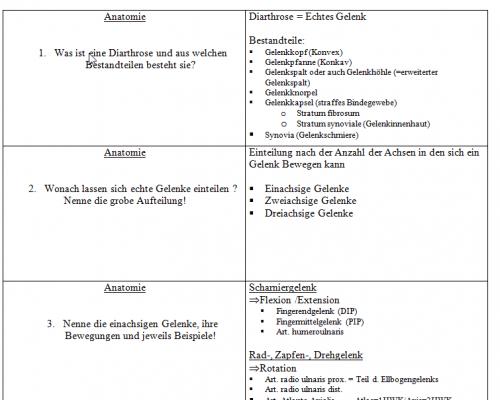 Screenshot for Anatomie Lernkarten