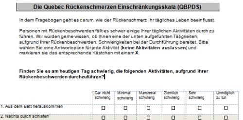 Screenshot for Fragebögen