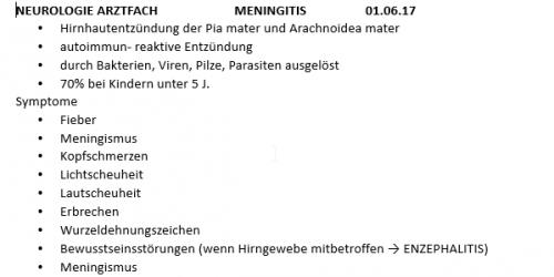 Screenshot for Zusammenfassung Meningitis (+Enzephalitis)