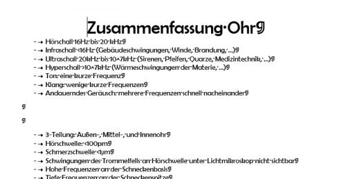 Screenshot for Zusammenfassung Ohr